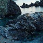 Scorcio fotografato dopo la seconda galleria da Levanto verso Bonassola spiaggia non attrezzata
