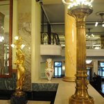 Statues and pillars - view from lobby seat