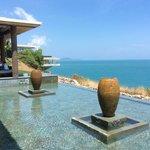 lobby overlooking beach