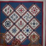 Mrs. Lee's quilt hanging on the wall at Dillenia