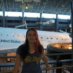 Me in front of The Space Shuttle.