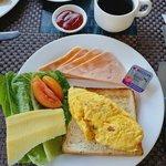 Breakfast of the hotel