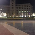 Catalunya square a few seconds walk from the hotel