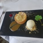 Rhurbarb Tart & Ice cream