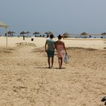 accès direct à la plage de l'hotel