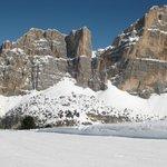 Ein Blick ins Skigebiet
