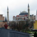 Daytime view of the Hagia Sophia from my room