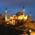 Night view of the Hagia Sophia from my room