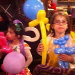 The girls with captain jacks balloons