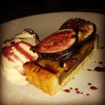 Frangipani tart for dessert