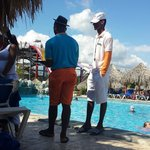 Lifegaurd on weekend talking to buddies instead of pool