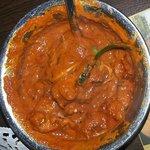 Chicken Tikka Masala with extra spice.