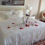 Beautiful romantic welcome to our room