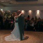 The first dance. Jan & Mark Downie.