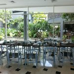 Bamboo Cafe Seating View - Serves daily breakfast