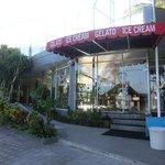 Back entrance from Gelato cafe - leading to Bamboo Cafe / Jimbaran beach restaurants