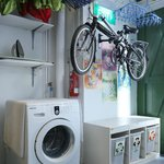 Laundry facility and recycling corner