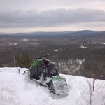 View from a local vista...by snowmobile