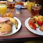 At the breakfast you had all you need! Delicious. It was awesome to eat your breakfast at the te