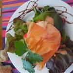 Salade aumônière aux fromages