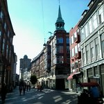 La rue piétonne de Kobmagergade prolongeant Frederiksborggadde
