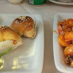CharSiu/barbeque pork pasties and cold squid dish