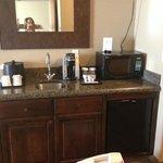fridge, micro, coffee maker