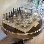 Chess board made from plexiglass