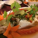 Seriously a very good Thai style steam fish, a real fresh fish...
