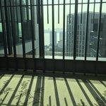 Entering the lobby on the 27th floor