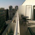 Large terrace outside room on 7th floor