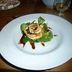 amazing caramelised red onion and goats cheese starter