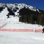 Training area with part of Mount Norquay in the background...