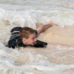 Son Enjoying Sand & Surf