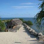 The Tiki hut and pier