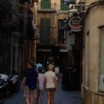walk from Santa Catalina to the Catherdral in Palma