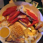 Snow crab legs - came with a salad too!