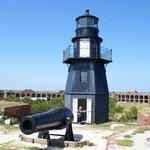 Lighthouse on upper level of Ft. Jefferson