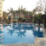 Pool area at Soaltee Crowne Plaza -- Kathmandu, Nepal
