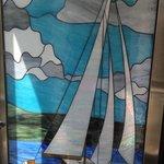 Nice vitreaux in the petunya hotel elevator