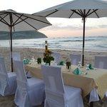 Our dinner on the beach