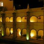 Indoor courtyard of