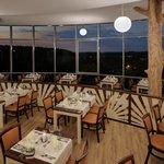 Restaurant am Abend
