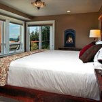 The High Desert Suite has a fireplace and a large private deck with sweeping valley views.