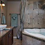 The bathroom of the High Desert Suite has a 2-person jetted tub for relaxing.