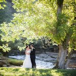 Wedding Couple by Indian Creek at Creekside