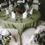Sky Room Tables set for a wedding at Creekside Resort