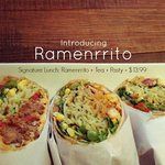 Pulled Pork, Free Ranged Chicken, & Ratatouille (vegan/vegetarian option) Ramenritto