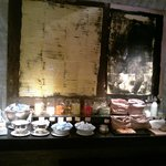 Café da manhã: uma parte do que é oferecido