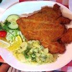 Bavarian Chicken Schnitzel with German Potato Salad